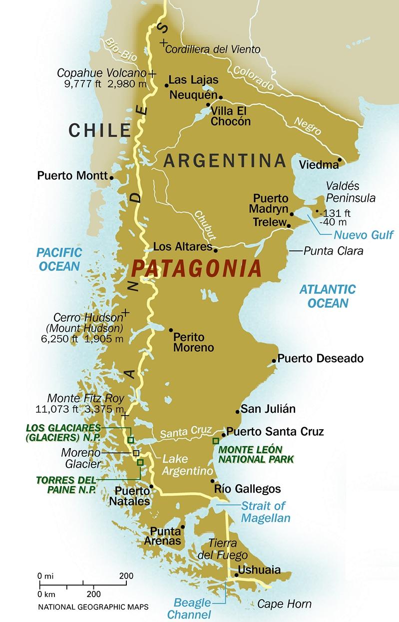 map patagonia my blog